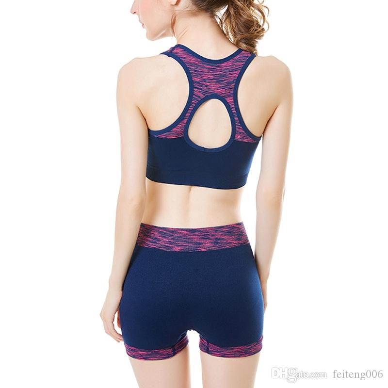 d85b32741c6a 2019 Fitness Yoga Set Workout Tracksuit Sport Suit Running Tight Dance  Sportswear Gym Straps Padded Crop Top Underwear Fitness #628569 From  Feiteng006, ...