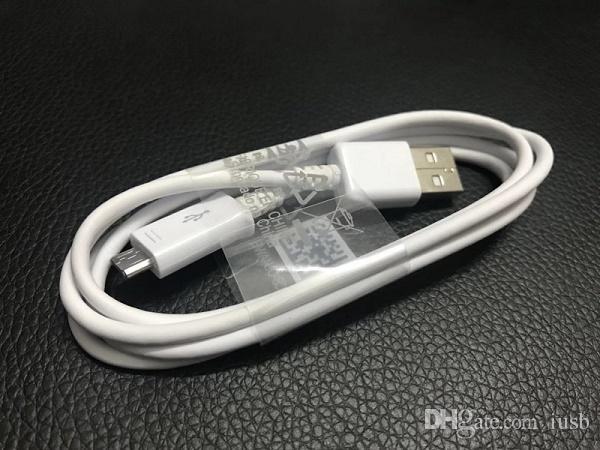 Com caixa do pacote original oem 1 m 3ft micro v8 usb tipo c cabo do carregador 1 m 3ft para o telefone samsung galaxy s4 s6 s7 s8 s9 s10 nota 9 8 7 4