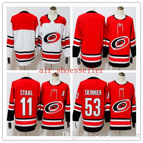 Men CAROLINA HURRICANES stitched hockey jersey 11 Eric Staal 53 Jeff Skinner Embroidery hockey Jerseys hotsale good quality