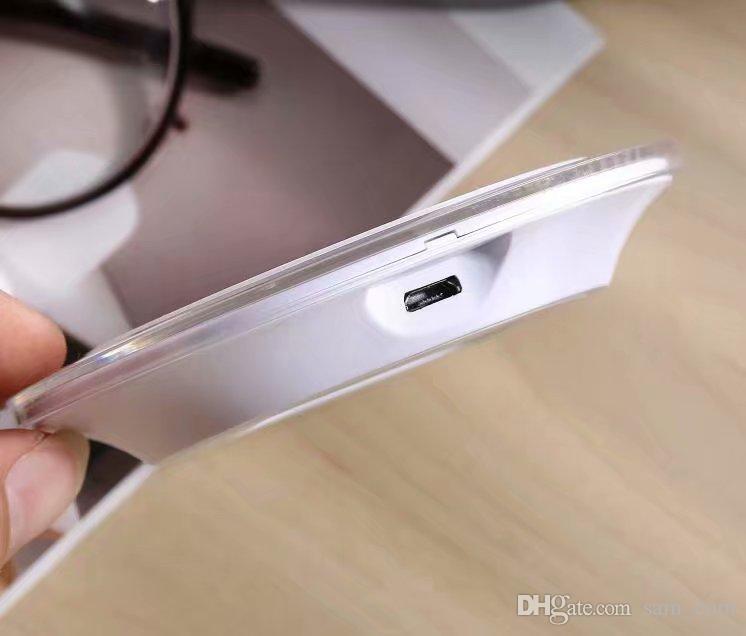 저렴한 유니버설 Qi 무선 충전기 충전 패드가 아닌 삼성 노트 갤럭시 S8 s7에 대 한 충전 패키지와 함께 가장자리 모바일 패드