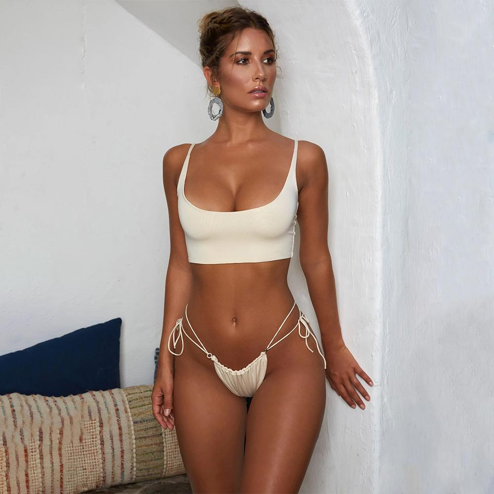 f16cf7b262 2019 Lis LIEGRASSE Swimsuit Women Bikinis 2018 Mujer Women S Swimming Suit  Brazilian Bandage Bikini Set Bikini Swimwear Women From Lisliegrasse