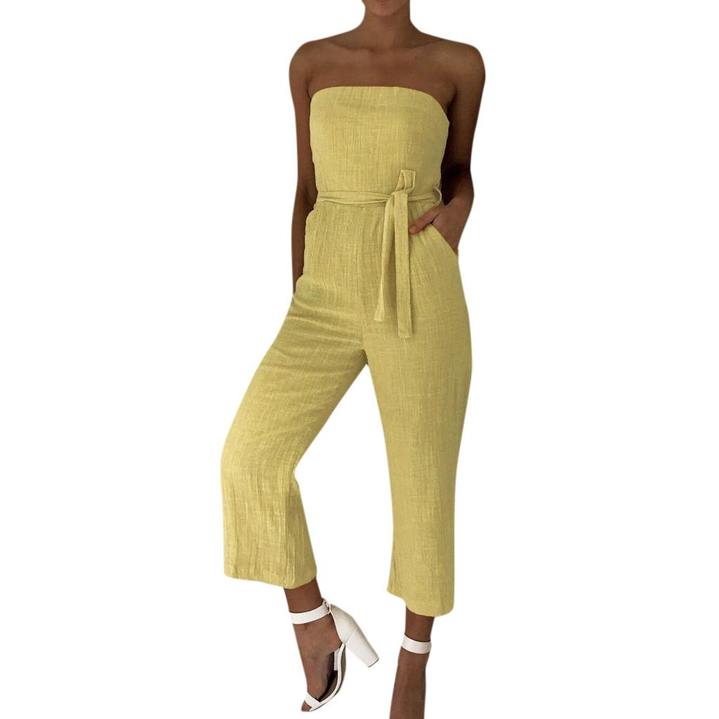 e754218f87f4 JAYCOSIN L Strappy Bodysuit Women Off Shoulder Jumpsuit Holiday ...