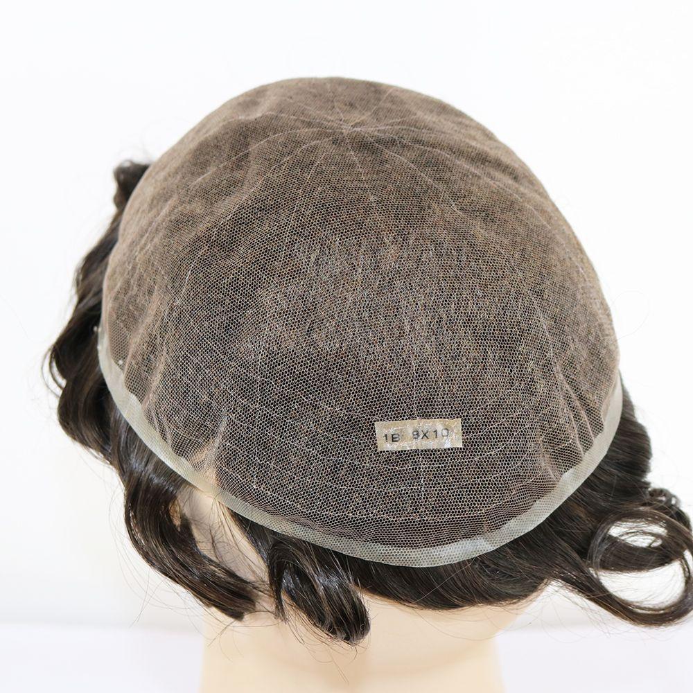 Toupet Mit Echthaar Voll Franzosisch Lace Haarteile Und Freestyle Frisur Toupet Fur Manner Farbe 1b 62 Farben Erhaltlich