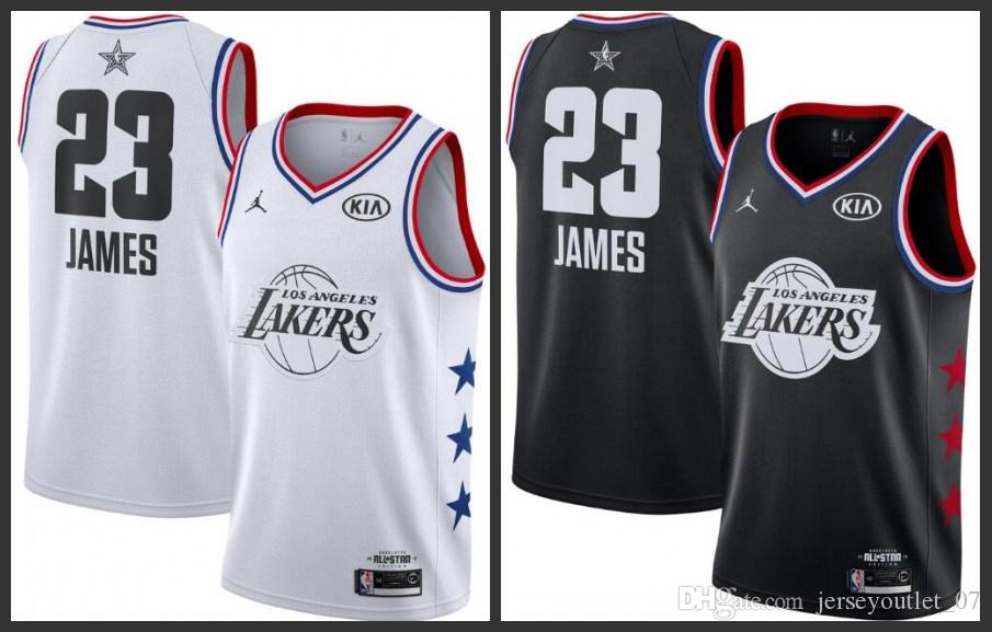 half off d895a 77a6a 2018-19 Los Angeles Men Lakers Basketball All Stars Jerseys #23 LeBron  James Jersey