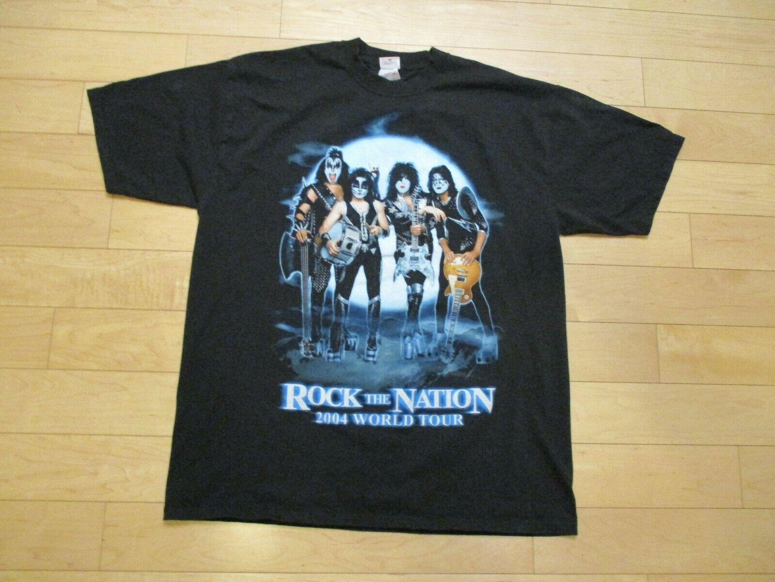 Kiss Rock Nation Concert Tour 2004 Shirt Acquista Xl Adulto The T 1lTcFKJ