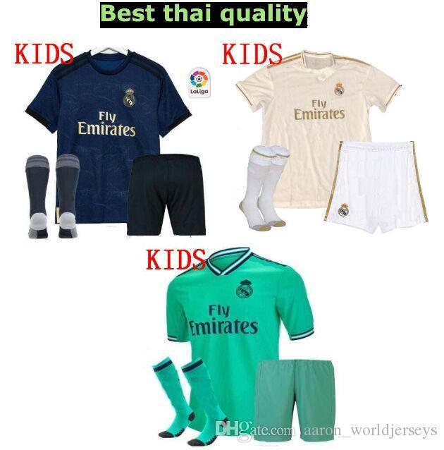 dd44891291f 2019 Equipaciones De Futbol Real Madrid Kid Uniform Spain Shorts Socks 2019  2020 Eden Hazard Realmadrid Soccer Jerseys Fc 19/20 Football Kits From ...