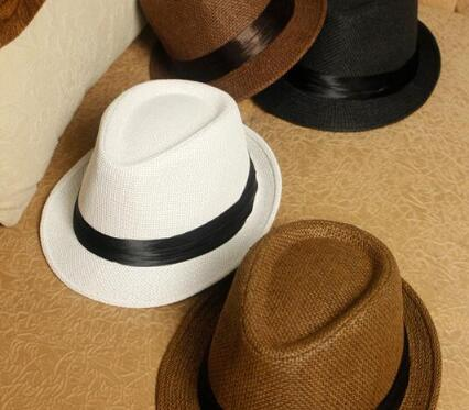 e04072270f2 Fashion Womens Mens Unisex Fedora Trilby Gangster Cap Summer Beach Sun Hats  Straw Panama Hat Couples Beach Hat Gilr Starw Hat Sunhat Eric Javits From  Agonon ...