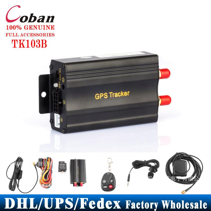 10 PCS/lot Coban Car Tracker GPS TK103B+Remote Control Rastreador Veicular Portoguese Manual PC&Web System