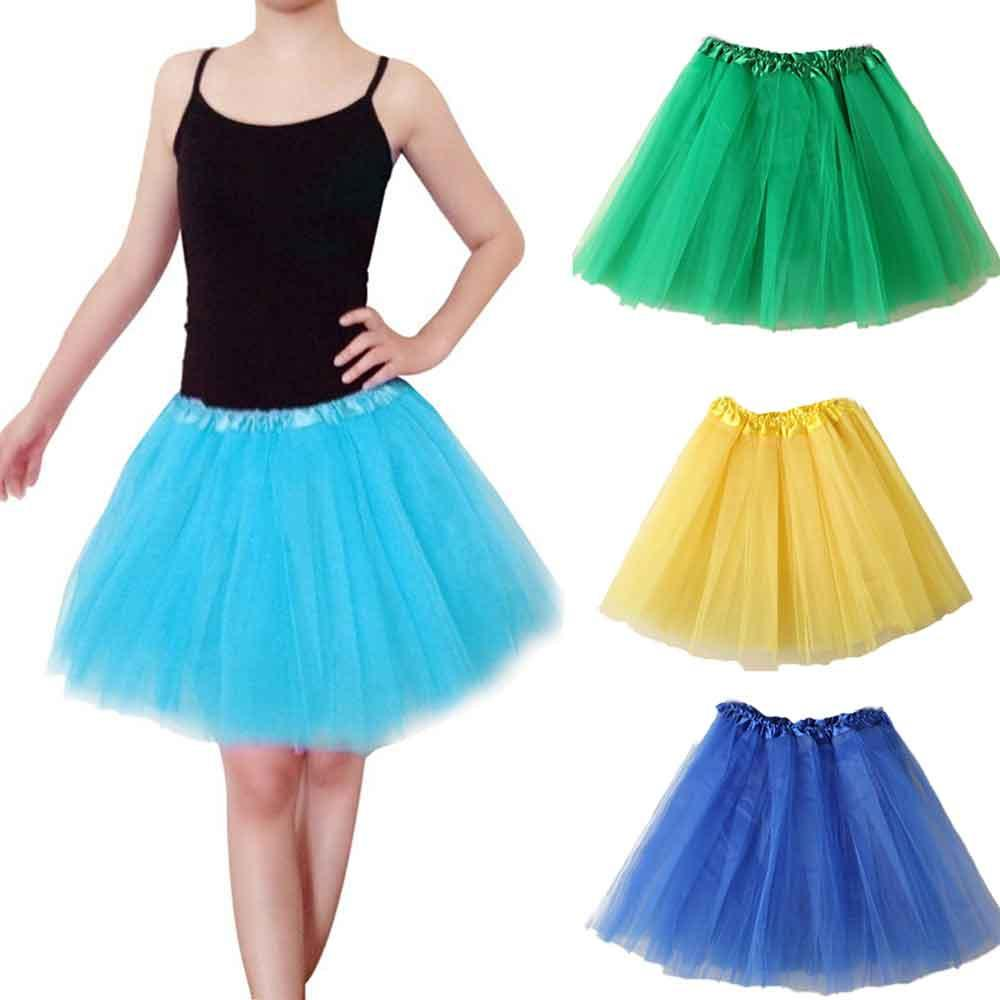 5d817f9885 Compre JAYCOSIN Ballet Falda Plisada Faldas De Gasa Esponjosa Mini Faldas  De Tutú Falda De Princesa Para La Fiesta De Baile Princesa Niña Ropa De Tul  A ...