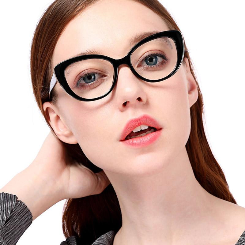 cf93ff36c 2019 Women Cat Eye Optical Eyeglasses Prescription Acetate Rim Spectacles  For Big Rim Glasses Frame Fashion Styles 95139 From Nectarine99, $25.94 |  DHgate.