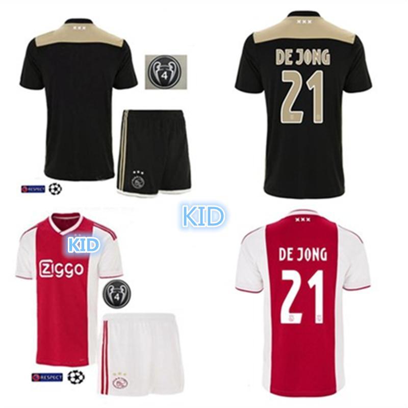67dcf7723 2019 New 2018 2019 Home Away Custom AJAX Kids Soccer Jerseys De Jong De  Ligt Tadic Ziyech Neres Van De Beek Kit Football Shirt Netherland From  Fsclz