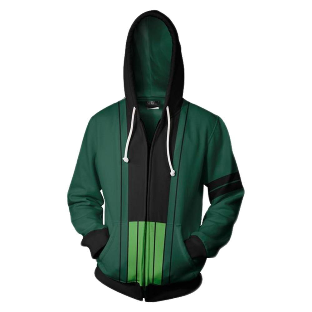 465cd1286 Cheap s & Sweatshirts One Piece Hoodie Roronoa Zoro Hoodie Cosplay 3D Print  Zipper Up Hoodie