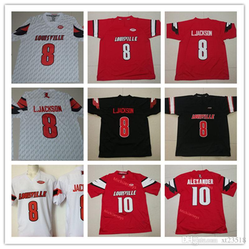2019 Mens NCAA Louisville Cardinals Lamar Jackson College Football Jersey  8  L.Jackson  10 Jaire Alexander Louisville Cardinals Jersey S 3X From  Xt23518 6d91093c8