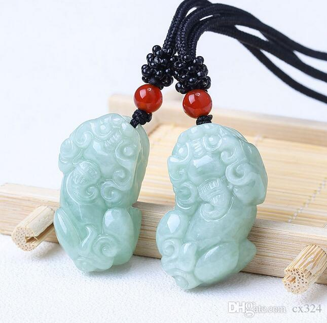Naturally Open Jadeite Lucky Jadeite Pendant Male and Female Couples Lucky Tale Ice Jade Pendant Opening