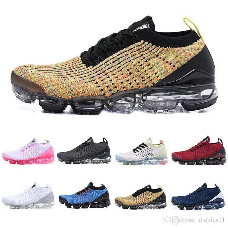 hot sale online 08921 dacd4 Acheter Nike Air VaporMax Flyknit 2019 3.0 Designers Fly Line 2019  Chaussures De Running Pour Hommes Flair Cushion Triple Black Femme  Chaussette De Sport ...