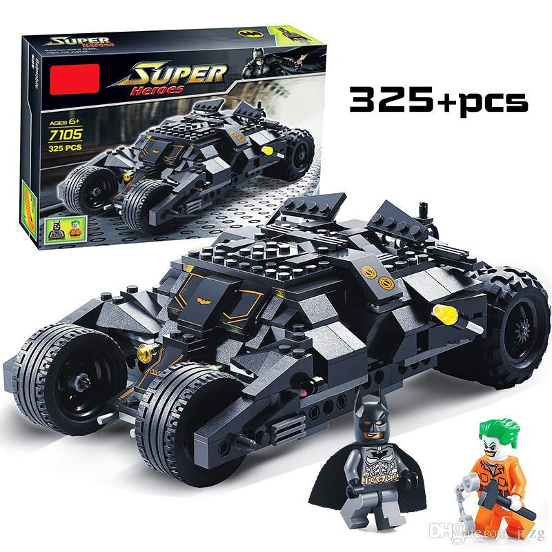 Super Heroes Avengers Batman Race Truck Car Model Technic Building Block Sets DIY Toys Compatible With LegoINGly Batman