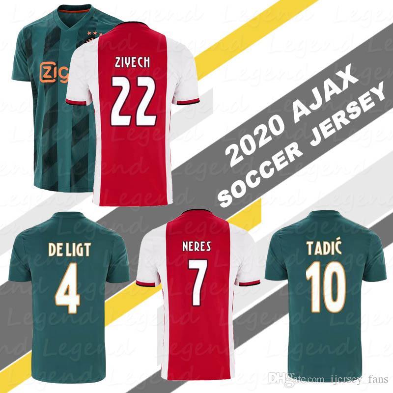 Best Chinese Jersey Site 2020 2019 AJAX Home 2020 Best Thailand Football Uniforms NOURI TADIC