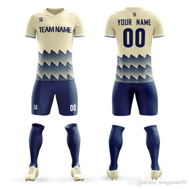 f95a9440121 2019 2019 Soccer Jerseys Football Kit Adult Kids Sports Suits Print  Training Game Jerseys Confortable Football Jerseys Custom Name Number  Clothes From ...