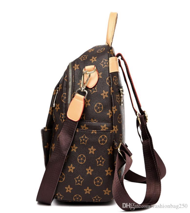 Zaino casuale delle donne di moda zaino bella di lusso Zaini PU Borse medie dimensioni per le donne soft Zipper