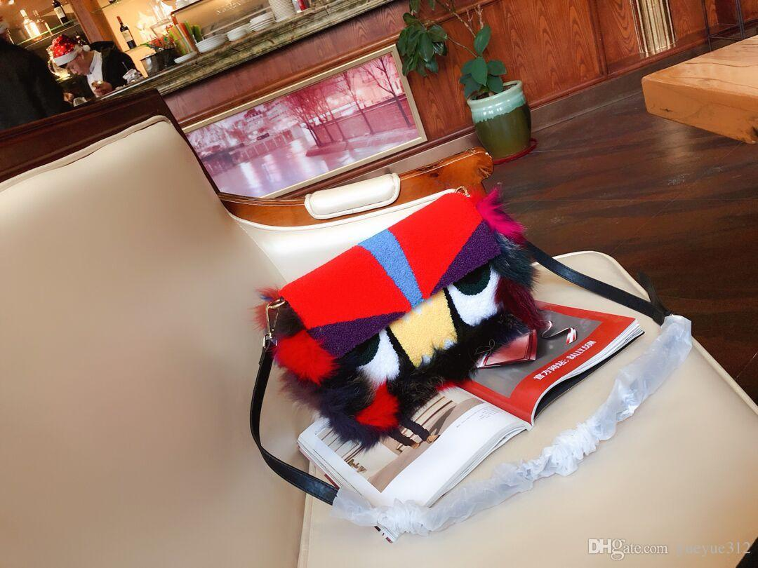 new fashion women Hairy patchwork shoulder bag novel messenger bag four color