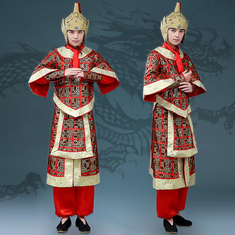 Chinese Ancient Costume Tang Suit Hanfu Generals Armor Soldier Costume Cosplay Stage Performance Drama DL4148