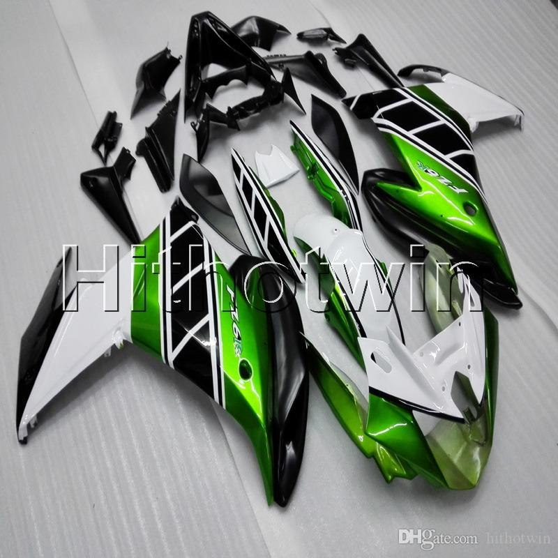 Screws+Gifts green white motorcycle cowl for Yamaha FZ6 FZ6R 2009-2010 FZ6R 09 10 ABS motor Fairing kit