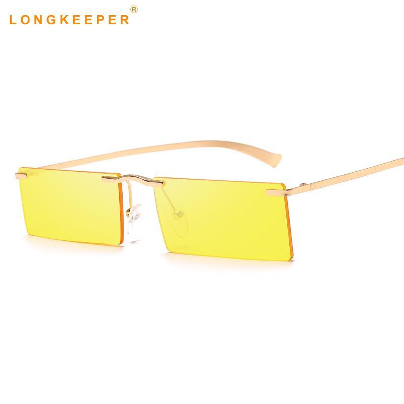 e66649d6d16 Square Rimless Sunglasses Women Fashion Stylish Vintage Retro Metal Frame  Rectangle Sunglasses Moda Mujer 2019 Lentes De Sol Round Glasses Designer  Glasses ...