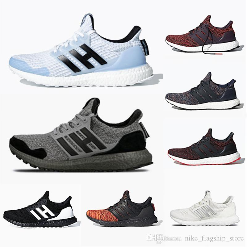 Adidas White Walker Ultraboost Game of Thrones X Ultra boost 4.0 House Stark mens Running shoes Orca Primeknit sports trainers men women sneakers