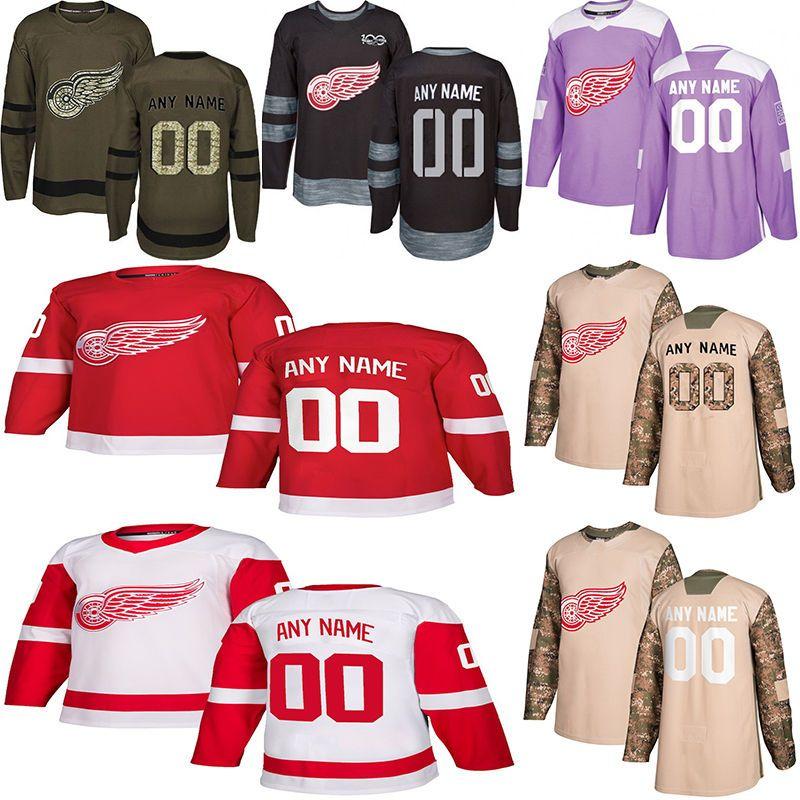 73f5f643 2019 2018 2019 News Detroit Red Wings Hockey Jerseys 9 Howe 19 Steve Yzerman  Multiple Styles Mens Custom Any Name Any Number Hockey Jerseys From ...