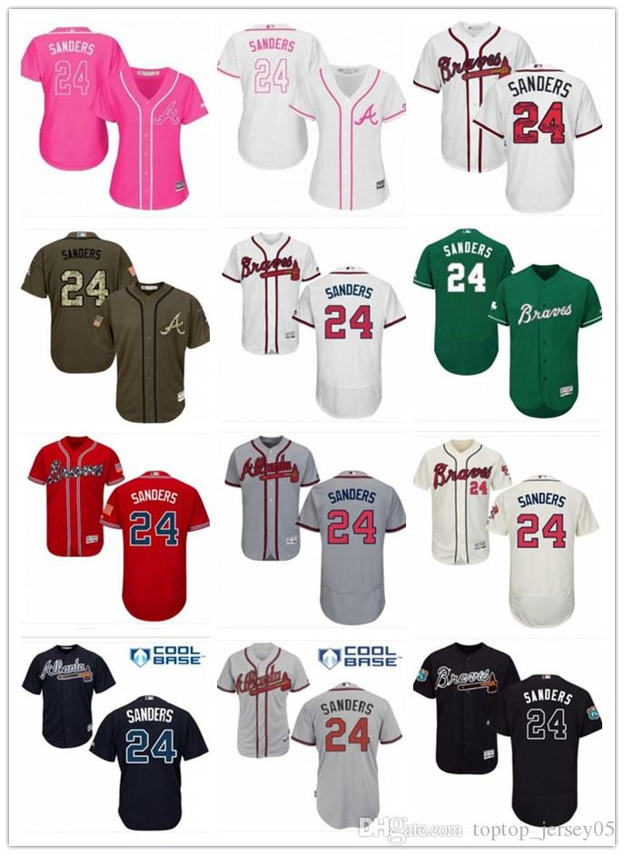 buy online 0227b 73735 2018 top Atlanta Braves Jerseys #24 Deion Sanders Jerseys  men#WOMEN#YOUTH#Men s Baseball Jersey Majestic Stitched Professional  sportswear