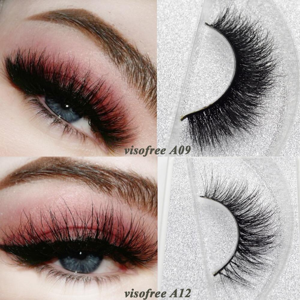 541cab941bd Visofree Mink Lashes 3D Mink False Eyelashes Long Lasting Lashes Natural &  Lightweight Mink Eyelashes Glitter Packaging D19011701 Permanent Eyelashes  Red ...