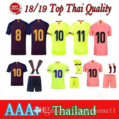 5dfaaf068aa 2019 2018 19 Barcelona Soccer Jersey 2019 Pink Blue Home Away 3rd Football  Shirt Jersey Kit Football Uniforms Shirts Jersey Kit With Sock From  Rxltonyhome11 ...