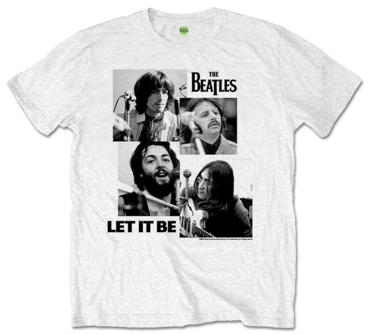 b5464469 Official Beatles Let It Be T Shirt Classic Music Album Cover Mens White  Design Novelty Cool Tops Men Short Sleeve T Shirt Funny Vintage T Shirts T  Shirts ...