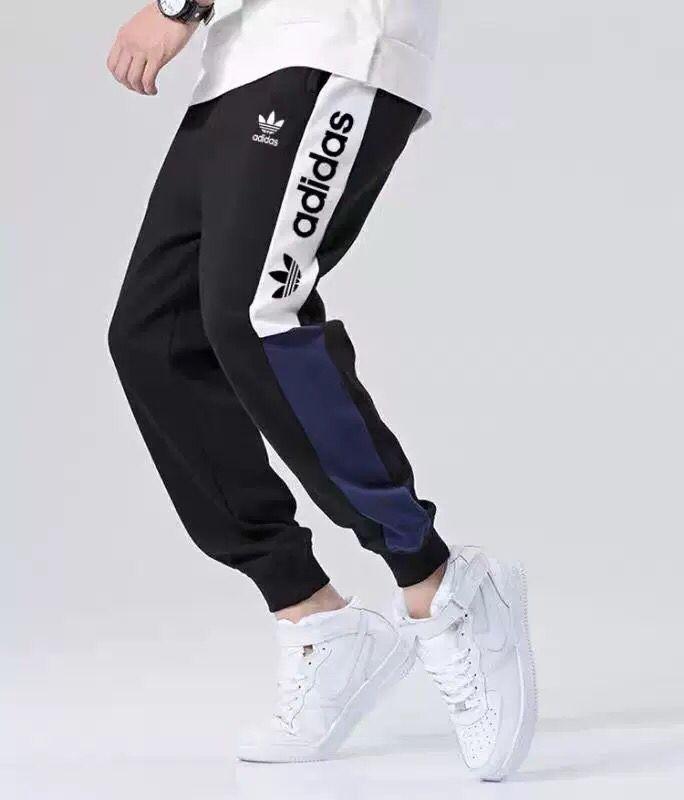 Nueva marca de moda pantalones para hombre pantalones de chándal joggers con AD letras primavera hombres pantalones de chándal cordón elástico Joggers