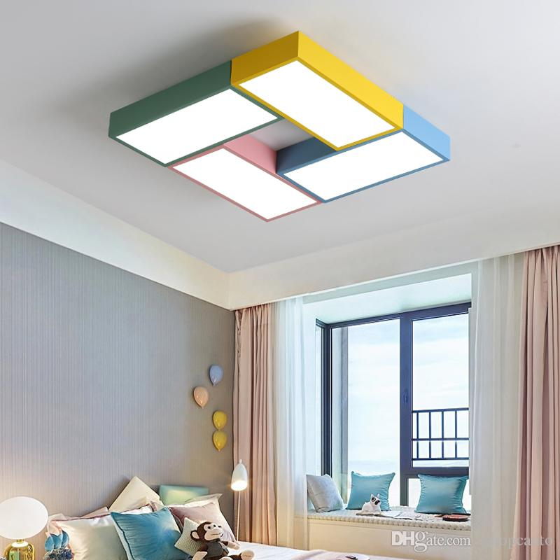 Ceiling Lights Lights & Lighting Led Cloud Ceiling Lights Iron Lampshade Luminaire Ceiling Lamp Children Baby Kids Bedroom Light Fixtures Colorful Lighting Light