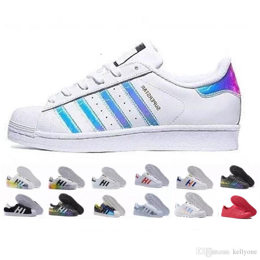 2018 Adidas stan smith Superstar Original White Hologramm schillernden Junior Gold Superstars Turnschuhe Originals Super Star Damen Herren Sport