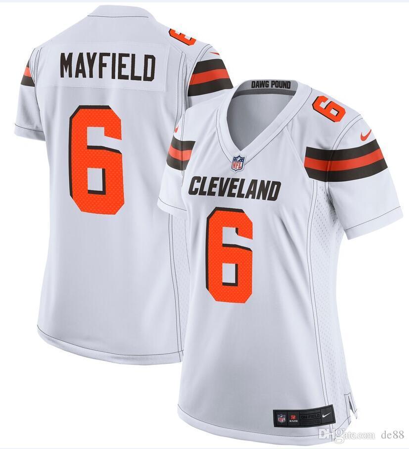 new styles c9186 00160 Baker Mayfield Odell Beckham Jr Browns Jersey Sione Takitaki Sheldrick  Redwine Donnie Lewis custom american football jerseys new shirts 4xl
