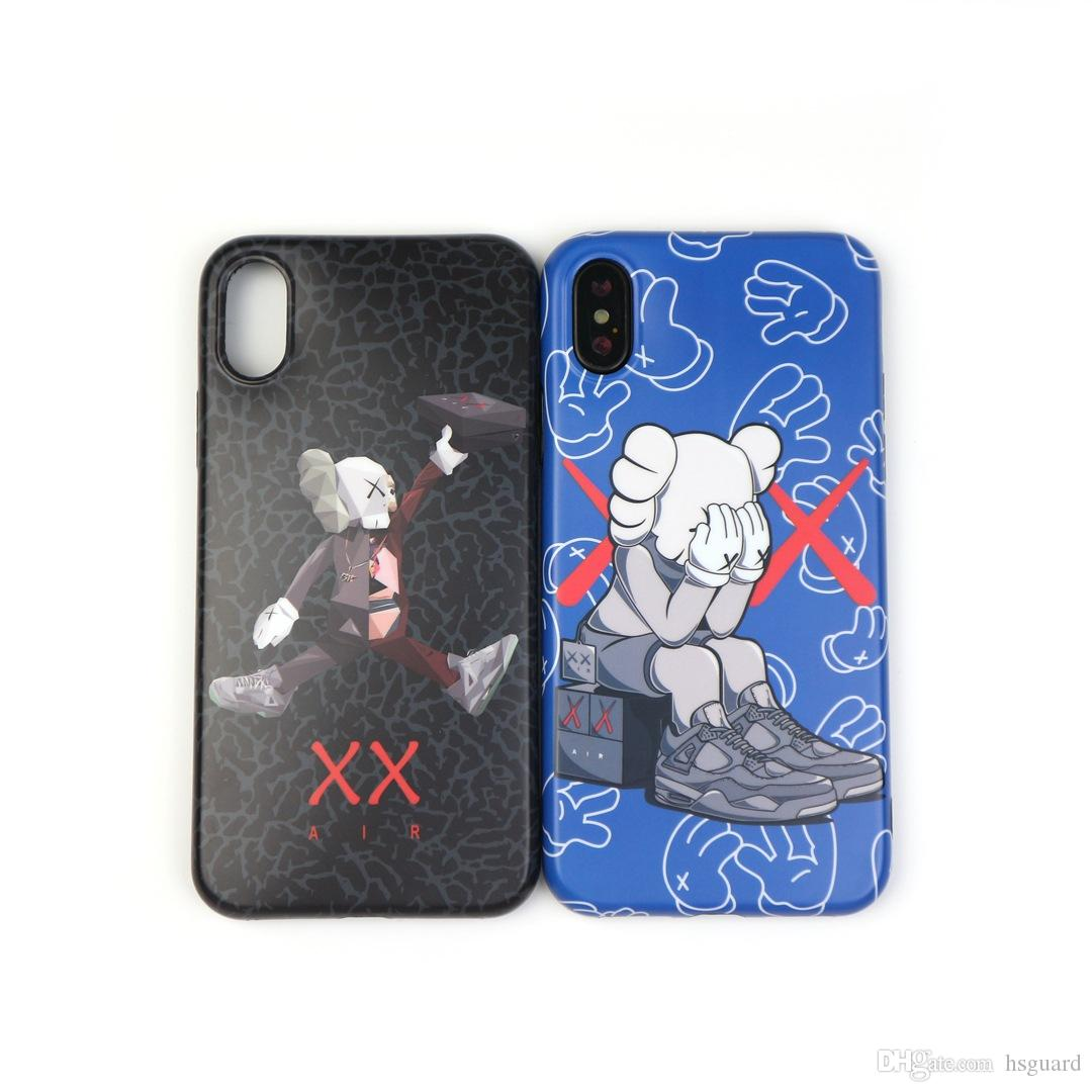 For Iphone Xr Xs Max Phone Case Trend Brand Sesame Doll 6 7 8 X Plus Couple Models Silicone Soft Cell Phone Case