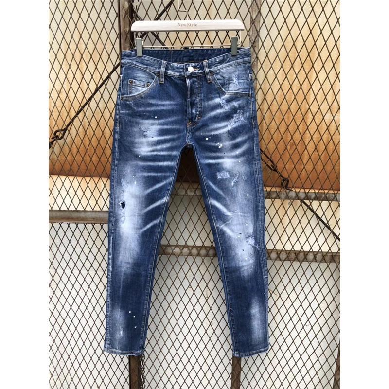 5835fa8f5d Compre Remiendo De Lujo Skinny Men Jean Elástico Delgado Jean Homme Washed  Ripped Mens Hip Hop Pantalones Vaqueros Jeans Acanalados Biker Jeans A   87.31 Del ...