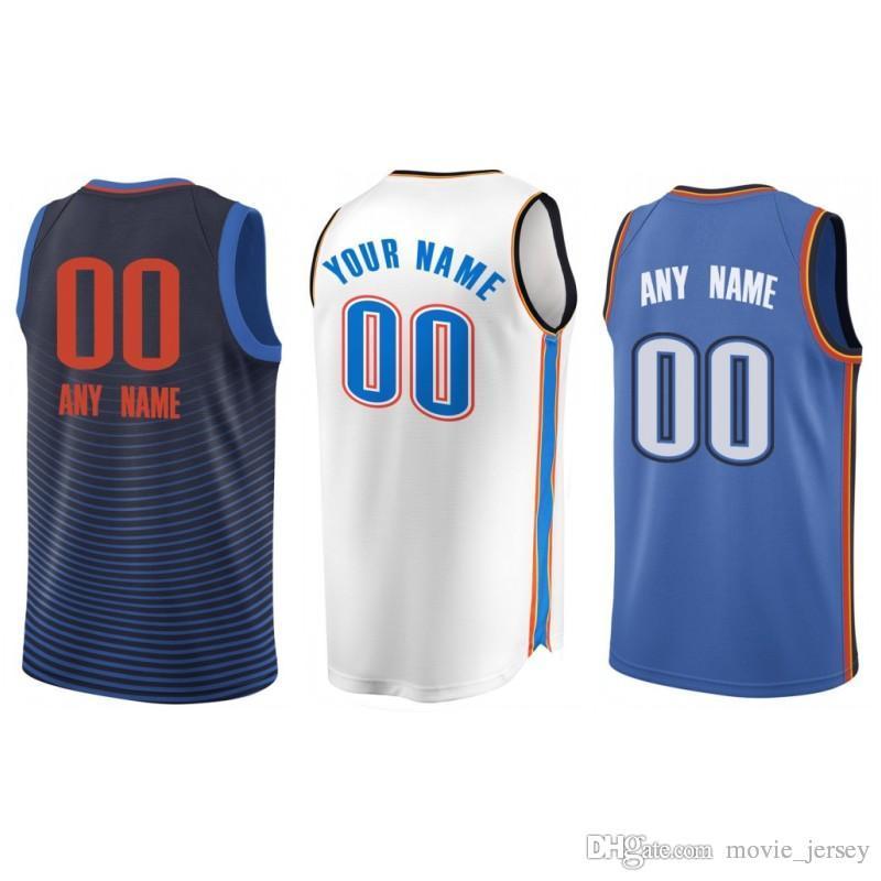 buy online 3715e a869b Custom 2019 Basketball Jersey Oklahoma City Alex Andre Abrines Roberson  Hamidou Jerami Diallo Grant Russell Paul Westbrook George Thunder Me
