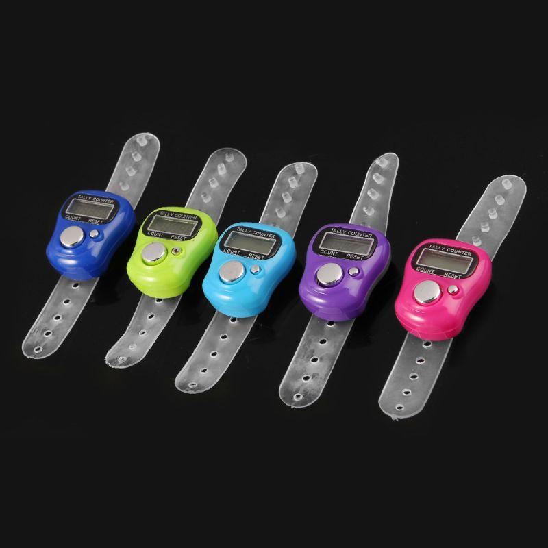 Mini Stitch Marker And Row Finger Counter LCD Electronic Digital Tally Counter For Sewing Knitting Weave Tool Finger