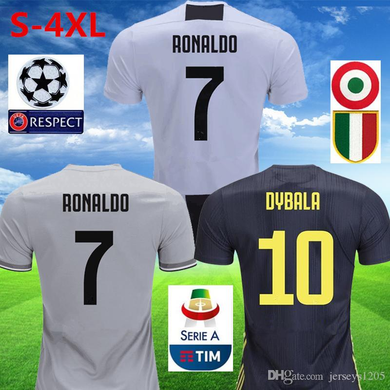 competitive price a1804 8d6f2 2018/19 Juventus Soccer Jersey Pjanic Ronaldo Home Jerseys Dybala Football  Shirt Mandzukic Tshirt Kids Kit Juve Maillot Camiseta Uniforms
