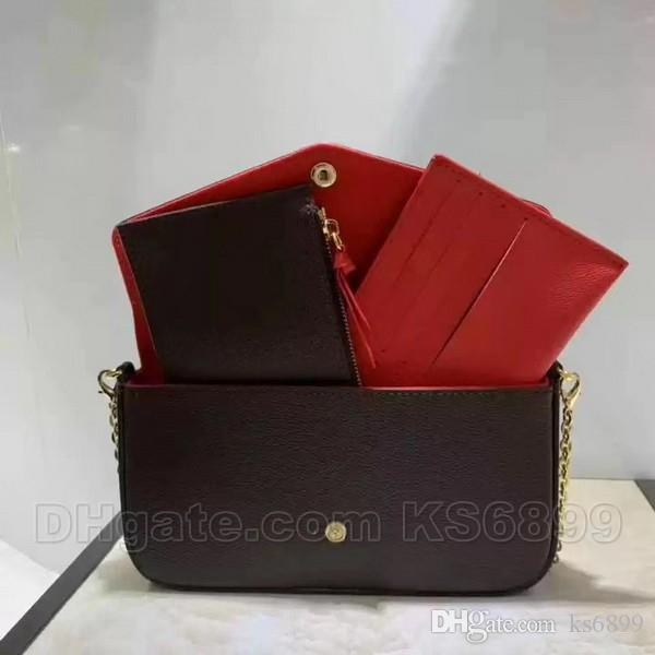 New Arrival Newest Bags Sets Fashion Women Designer Shoulder Bags Top Quality Bag Size 21/11/2 cm Model 612760 With Box