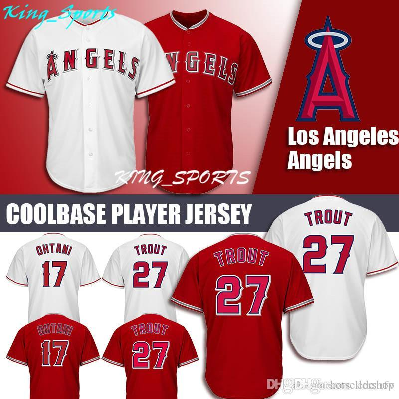 d34962e9b8b Angels Majestic Coolbase Jersey 27 Mike Trout Jersey 17 Shohei Ohtani Jersey  Angels Jersey Mike Trout Shohei Ohtani Online with $26.98/Piece on  Edc_rfv's ...