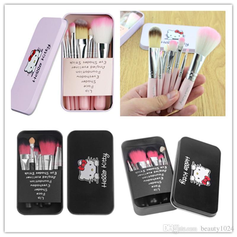 f49cf9b51 New Iron Box Cartoon Makeup Brush Set Hello Kitty Lovely Makeup ...