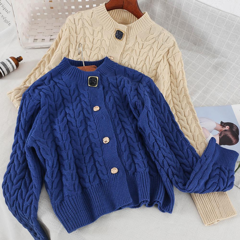 2019 New Fashion Women s Sweater Cardigan Simple Single-breasted ... 4a2031a9d