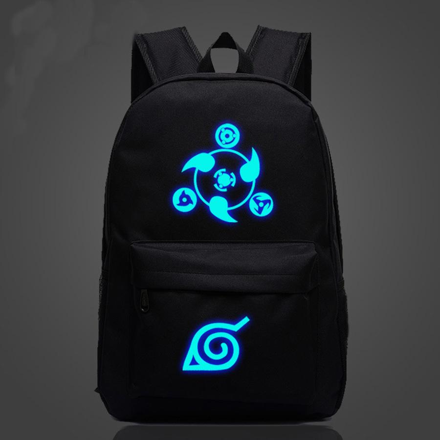 Anime Naruto School Students Schoolbag Uomini e donne Borsa con cerniera a tracolla Bambini Cartoon Canvas Canvas Backpack