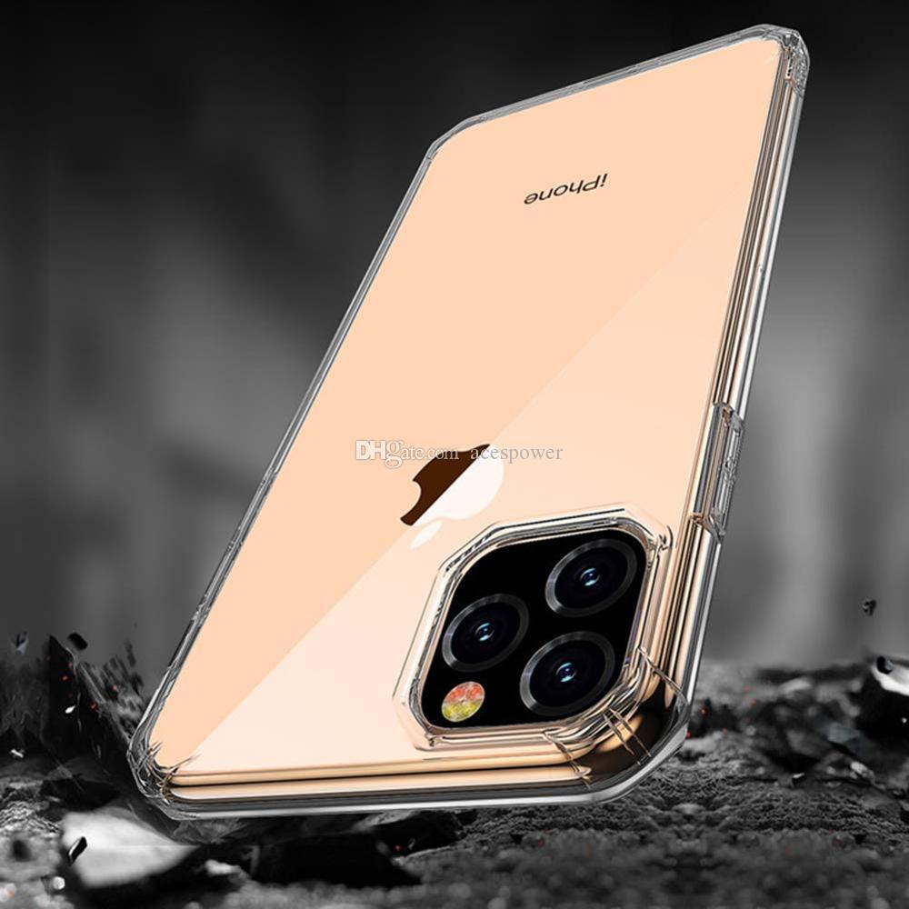 Super anti-Knock Soft TPU TRANSPARENTE CLEAR TELÉFONO CUBIERTE CUBRAR Funda a prueba de golpes para iPhone 11 Pro Max X XS NOTA10 MATE 30 PRO