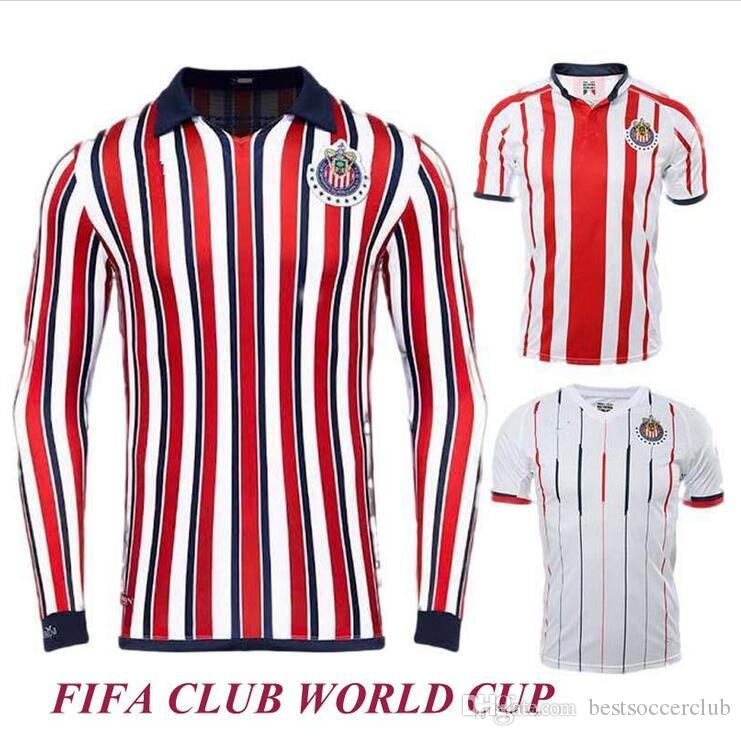 wholesale dealer 321fd 1566f Chivas de Guadalajara 2018 Japan club World Cup Soccer Jerseys Long Sleeve  Kit New Arrived Thailand MEXICO Club 18 19 Women football shirt