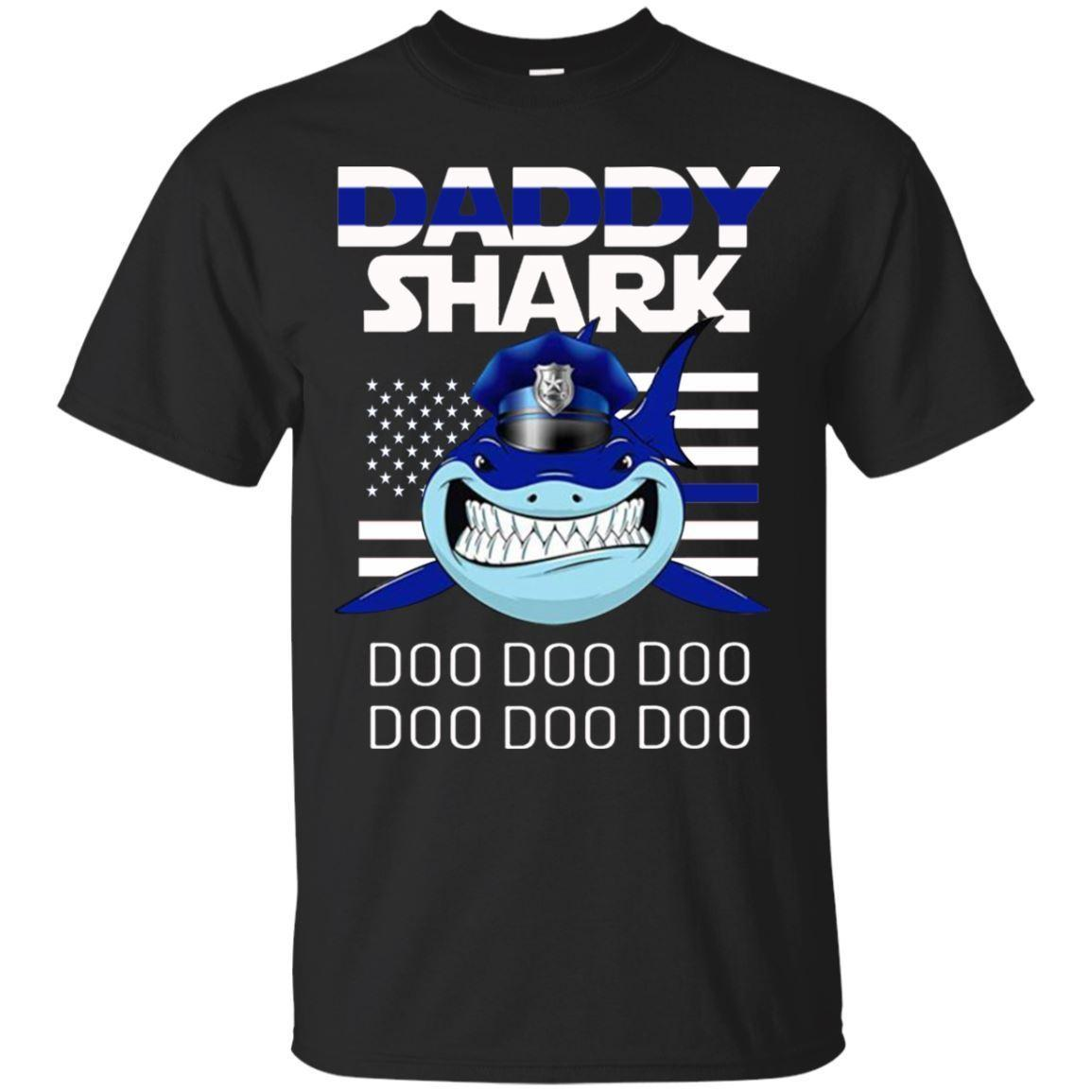 be11d01d91f Police Daddy Shark Doo Doo Doo T Shirt Funny Men S Tee Shirt Short Sleeve T  Shirts Shirt From Goodencounter60